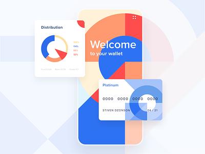 Mobile App - Online banking animation banking mobile app design motion minimal ux ui colors clean