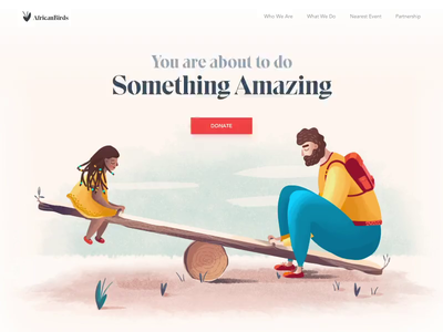 Landing page - African Birds