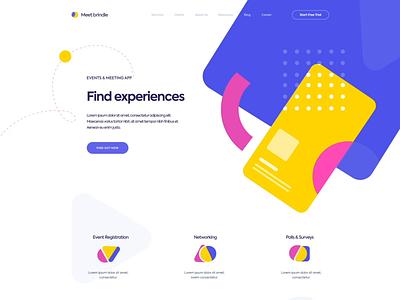 Landing page - Meet brindle app animation website minimal design web landing ux colors ui clean