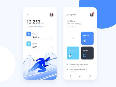 Mobile application - Jogging minimal app mobile ux ui colors clean