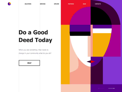 Landing page - Do a Good Deed Today public homepage colors pattern face paint landing