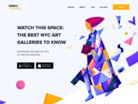 Landing page - Art Forum