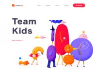 Team kids landing