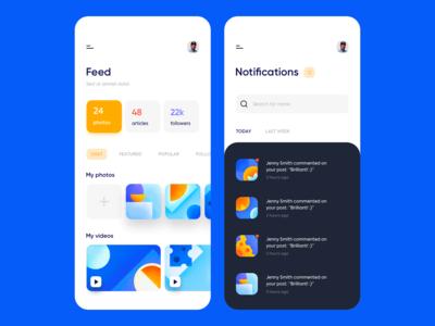 Mobile app - Social media network