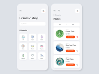 Mobile application - Ceramic shop