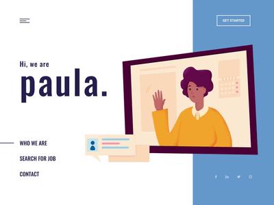 Landing page - Paula