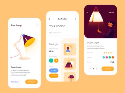 Mobile app - RealLamp