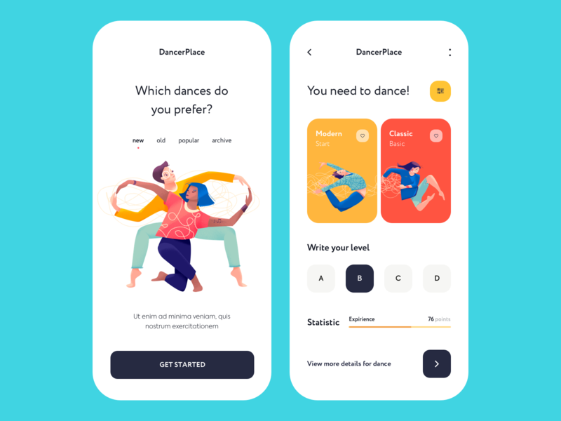 Mobile app - DancerPlace