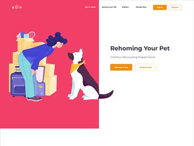 Landing page - RYP animation website minimal illustration landing web design ux ui colors clean