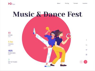 Landing page - MDFest animation website landing illustration web design ux ui colors clean