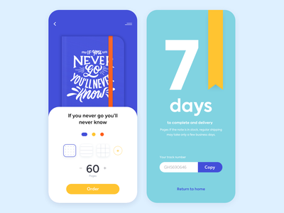 Mobile app - Smart Note smart typogaphy app mobile minimal design ux ui colors clean