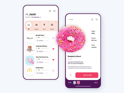 Mobile application - Delivery app vectors mobile app animation minimal design ux ui colors clean