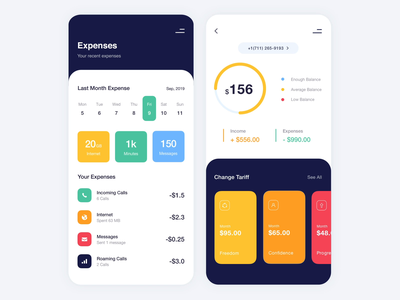 Mobile Application - Watch Your Phone soft colors app mobile minimal animation design ux ui clean