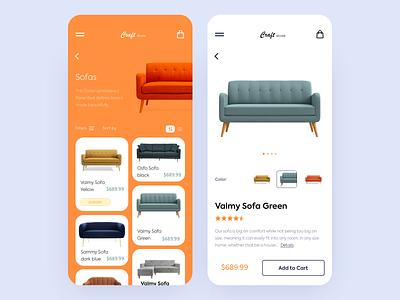 Mobile App - Craft Store typography logo mobile clean app animation minimal design ux ui