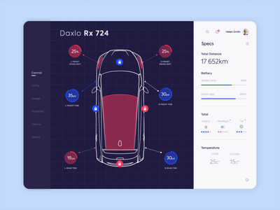 Web Platform - Car diagnostics app animation website web minimal design ux ui colors clean