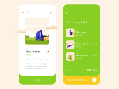 Mobile app - Shoes E-commerce