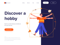 Landing Page - Discover a hobby