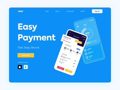 Landing Page - Payment App E-Pay