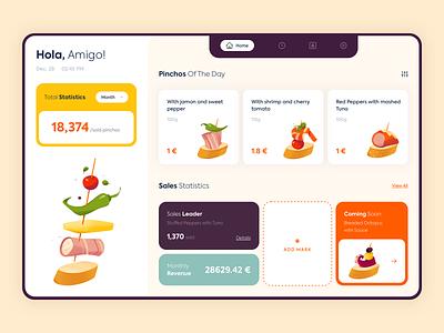 Web App - Hola Tapas page app website illustration web minimal design ux colors ui