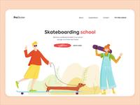 Landing Page - Skateboarding School