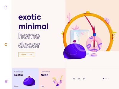 Calm. - Landing Page app colors design animation website web illustration minimal ux ui