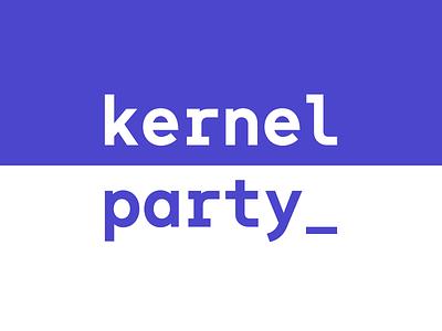 KernelParty company panic kernelparty brand brand identity branding flat identity logo