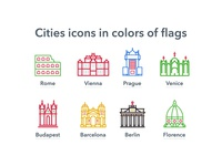 Cities icons