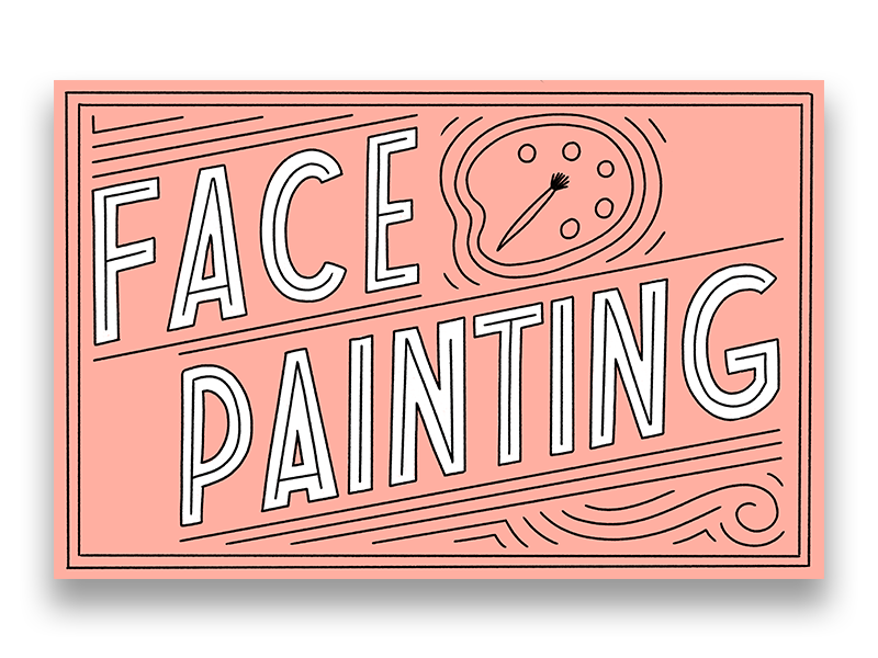 Face Painting letters handlettering procreate design type illustration typography lettering