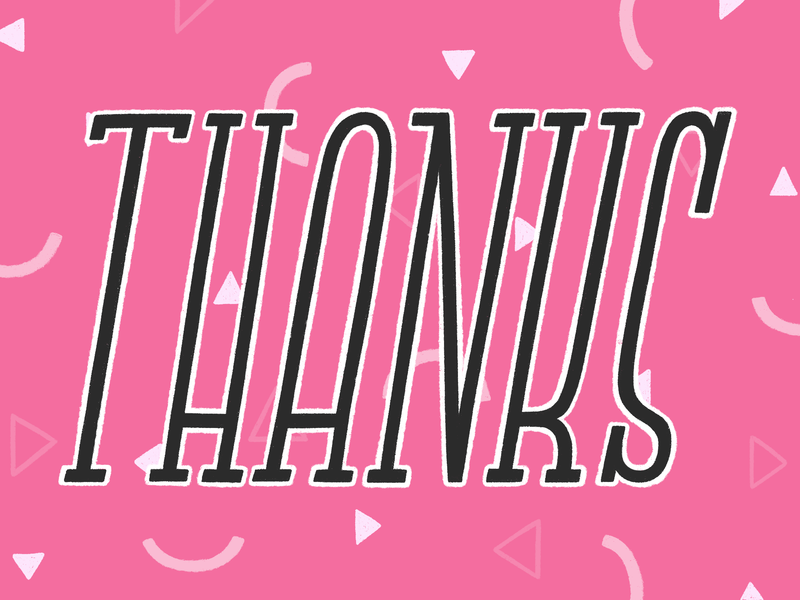 Thanks! ipad letters handlettering procreate design type illustration typography lettering