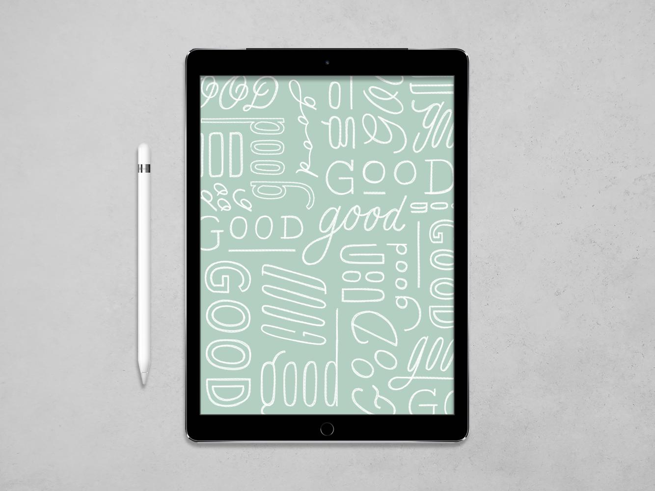 More Good Stuff pattern ipad letters handlettering procreate design type illustration typography lettering