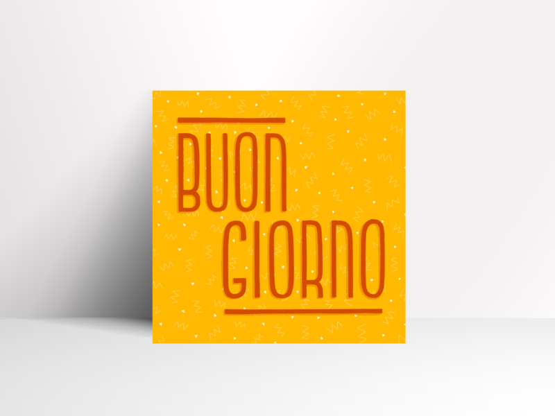 Buongiorno pattern ipad letters handlettering procreate design type illustration typography lettering
