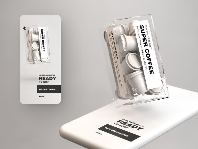 Conceptual mobile UI for coffee capsule store