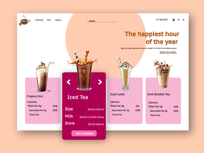 Coffee Lounge Website Lounge coffee graphic design typography vector logo branding illustration web ux app ui design
