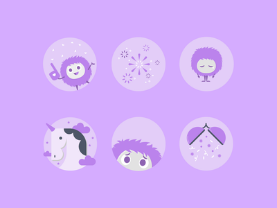 Canva Social Media Icons 05 fun party pastel cute people characters icons set illustration icon social media
