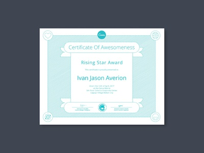 Canva Certificate of Awesomeness by Jay Alexander Santos - Dribbble