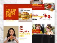 McDonalds homepage concept