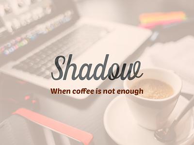Shadow ui type typography poster clean icon brand identity logo design branding coffee