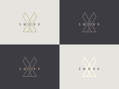 Sword Logo Progress sword branding flat geometry logotype logo design logo