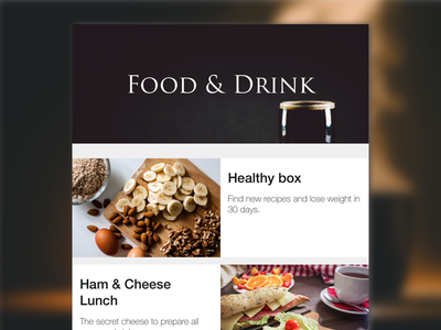 Food and Drink category category minimalist food flat webdesign design web user experience user interface ui ux