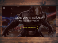 Star wars landing page - DailyUI 003