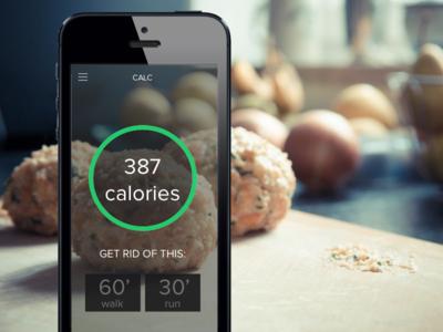 Calories Calculator App - DailyUI 004