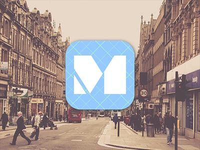 iOS App Icon - DailyUI 005 logo ui minimal modern clean icon design mobile icon iphone ios 005 dailyui