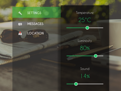 Settings - DailyUI 007 green settings 007 mobile modern interface dailyui app ux minimal clean ui