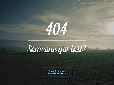 404 Error Page - DailyUI 008 rebound 404 error page error 404 modern photography clean minimal ui ux 008 dailyui