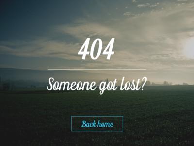 404 Error Page - DailyUI 008