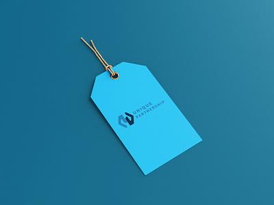 UNIQUE PARTNERSHIP monogram vector logotype minimal logo logodesign illustration design branding