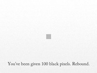 You Have 100 Black Pixels