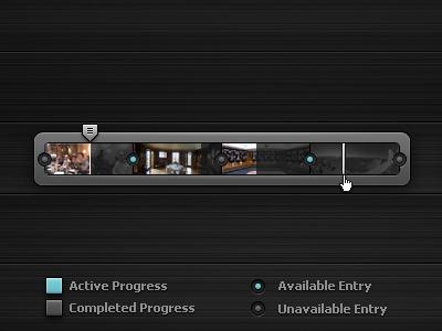 360 Tour - Progress/Location Bar — Rebound ui black grey