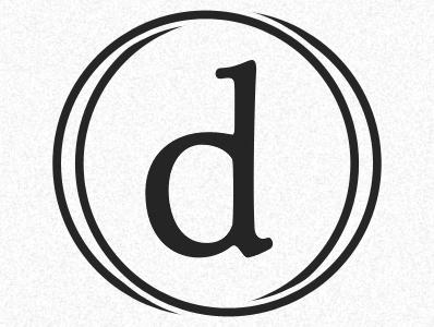 Dustin Senos - Identity #2 black d circles lettermark branding typeface-livory