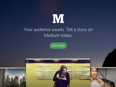 Medium Homepage medium landing page